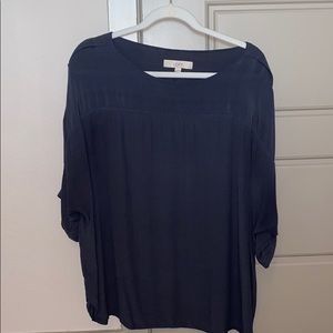 Ann Taylor LOFT Dolman Sleeve Grey-Blue Top